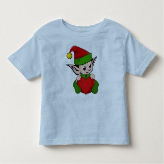 Elf red heart toddler t-shirt