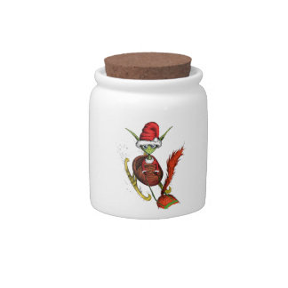 Elf Riding Sleigh Candy Jar