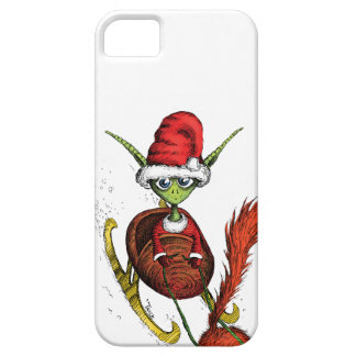 Elf Riding Sleigh iPhone 5 Cases