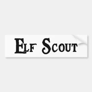 Elf Scout Bumper Sticker