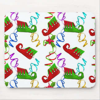 Elf Shoes Christmas Holiday Mouse Pad