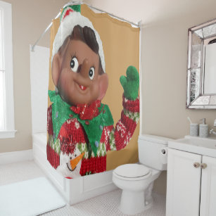 Christmas Elf Shower Curtains
