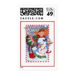 Elf & Snowman's Surprise for Santa Stamp