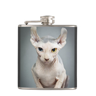 Elf Sphinx Cat Photograph Flask