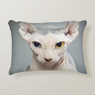 Elf Sphinx Cat Photograph Image Accent Pillow