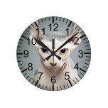 Elf Sphinx Cat Photograph Wall Clock