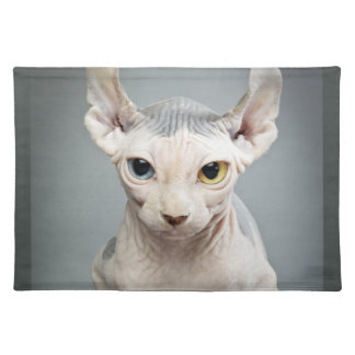 Elf Sphinx Cat Photography Cloth Placemat