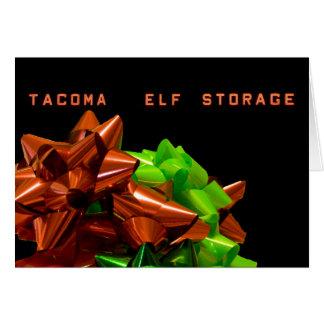 Elf Storage #1 Christmas Card
