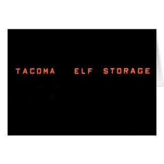 Elf Storage Christmas Card