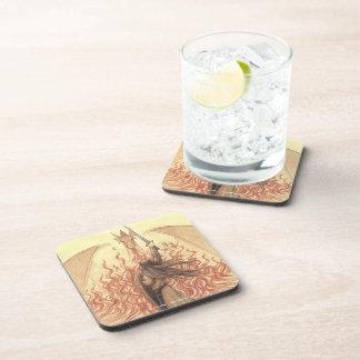 Elf vs Dragon Beverage Coaster