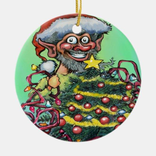 Elf w Tree Ornament