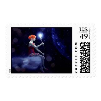 Elf Wand Postage Stamp
