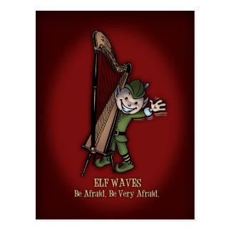 Elf Waves - HARP Postcard