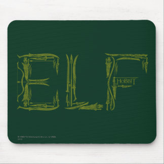 Elf Weapons Collage Mouse Pad