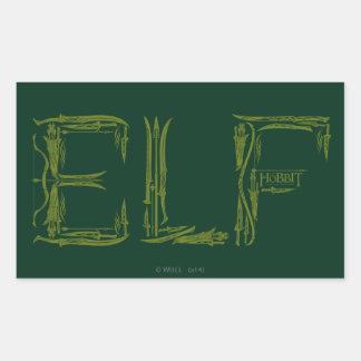 Elf Weapons Collage Rectangular Sticker