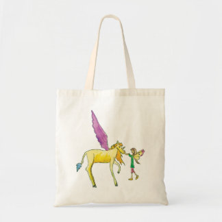 Elf with an Yellow Alicorn Pony Horse Tote Bag