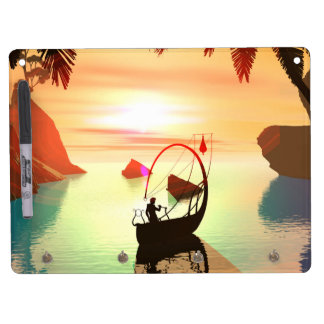 Elf with beautiful lamp boat Dry-Erase board