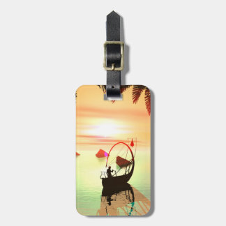 Elf with beautiful lamp boat travel bag tags