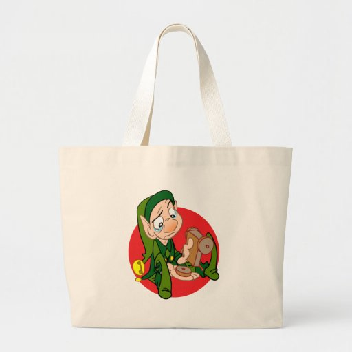 ELF WITH BROOKEN TOY TOTE BAGS