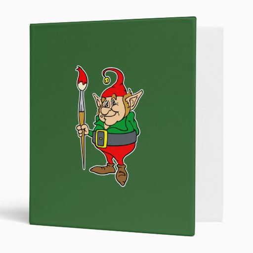 elf with giant paintbrush binder