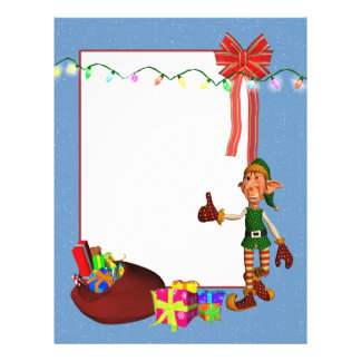 Elf with toys and gifts Christmas Letterhead
