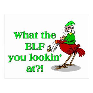 Elf You Lookin At Postcards