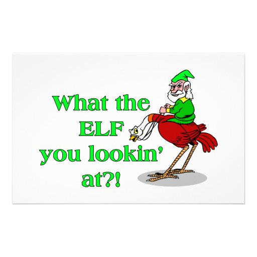 Elf You Lookin At Personalized Stationery