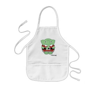 elfalant in the kitchen kids' apron