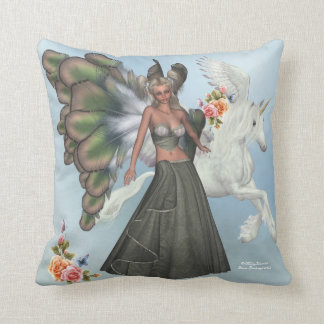 Elfin Fairy Lyndsy Pegasus American MoJo Pillow