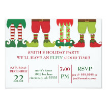 Elfin' Holiday Party Invitation