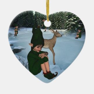 ElfMagic Christmas Snow Elf Chris Miss Ornament