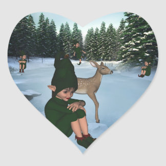 ElfMagic Christmas Snow Elf Chris Miss Sticker