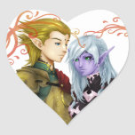 Elfos - Couple - Valentines Day Adesivos De Corações