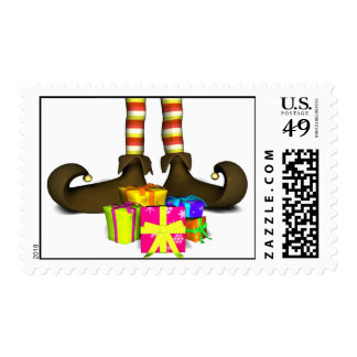 Elf's Gifts Postage Stamp