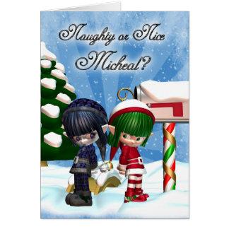 Elfs sin valor o Niza de la tarjeta del día de fie