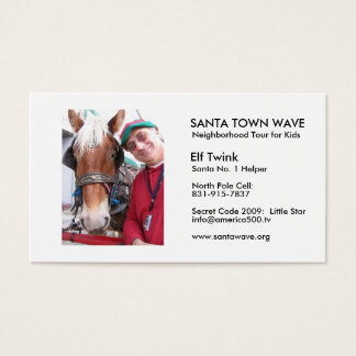 ElfTwink06, SANTA TOWN WAVE, Neigh... - Customized Business Card