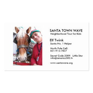 ElfTwink06, SANTA TOWN WAVE, Neighborhood Tour ... Double-Sided Standard Business Cards (Pack Of 100)