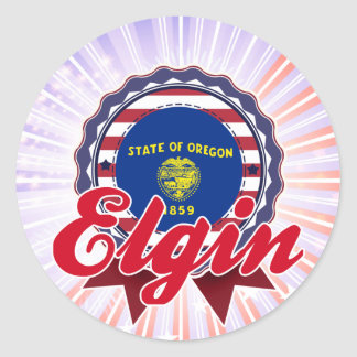 Elgin, OR Round Stickers
