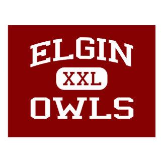 Elgin - Owls - Elgin High School - Elgin Oklahoma Postcard
