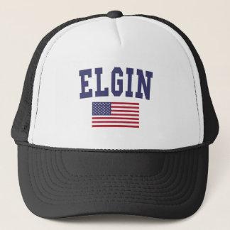 Elgin US Flag Trucker Hat