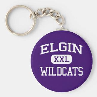 Elgin - Wildcats - Elgin High School - Elgin Texas Keychain