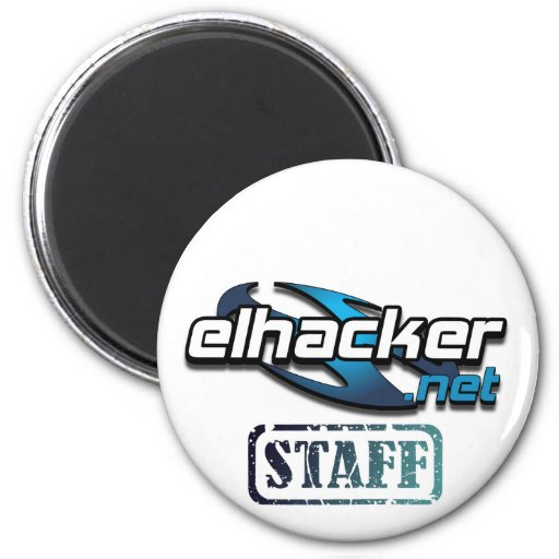 elhacker.net seal degraded staff blue 2 inch round magnet