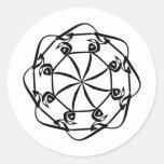Elham 014 pegatina redonda