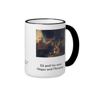 Eli and his sons Hopni and Phinehas  1 Samuel 4  1 Mug