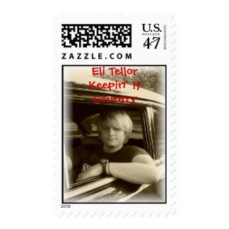ELI CAR CLOSE UP SOFT EDGE, Eli Tellor   Keepin... Postage Stamp