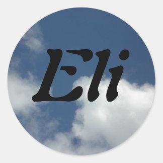 Eli Classic Round Sticker