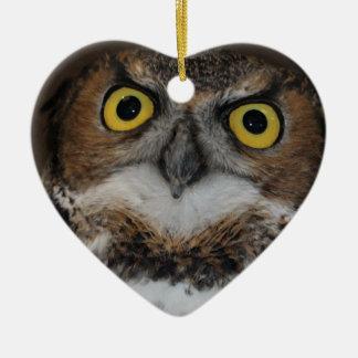 Eli - Great Horned Owl I Ceramic Ornament