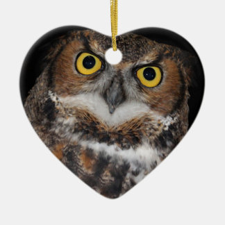 Eli - Great Horned Owl II Ceramic Ornament