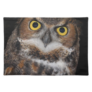 Eli - Great Horned Owl II Cloth Placemat