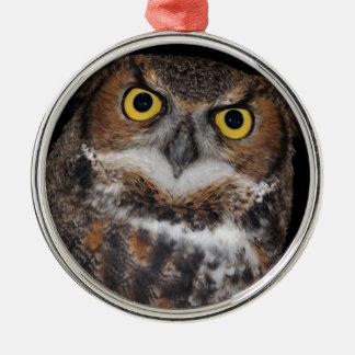 Eli - Great Horned Owl II Metal Ornament
